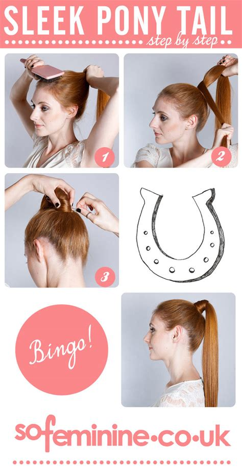 hairstyles step by step guides how to create hairstyles how to do a sleek ponytail step by step guide sofeminine