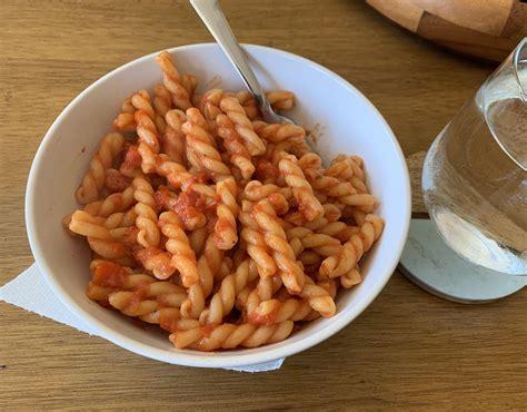 large bowl  pasta  arrabbiata sauce