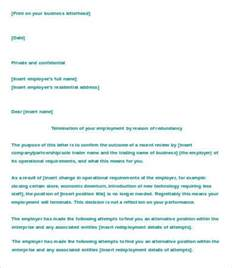 template termination of employment letter of termination of employment template 6 free