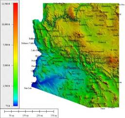 arizona elevation map topocreator create and print your own color shaded