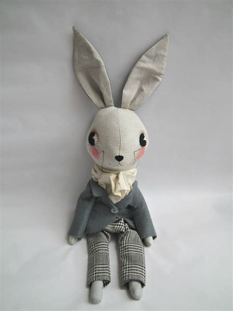 Handmade Rabbit - plush bunny bunnies cloths and handmade
