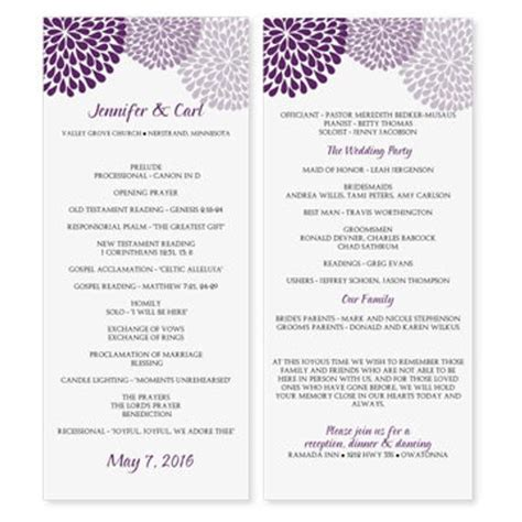 Wedding Program Template Download By Diyweddingtemplates On Etsy Wedding Program Templates Free Microsoft Word