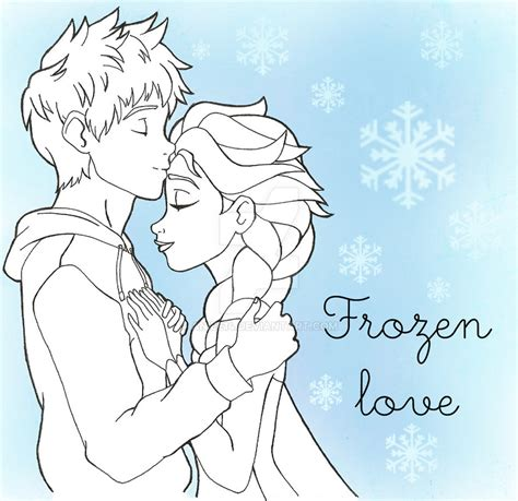 coloring pages elsa and jack jack and elsa by aniee14 on deviantart