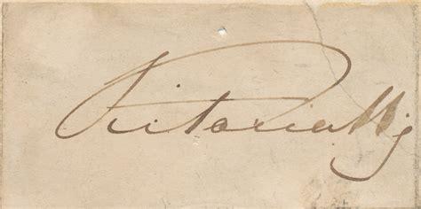 queen victoria signature queen victoria autograph signature