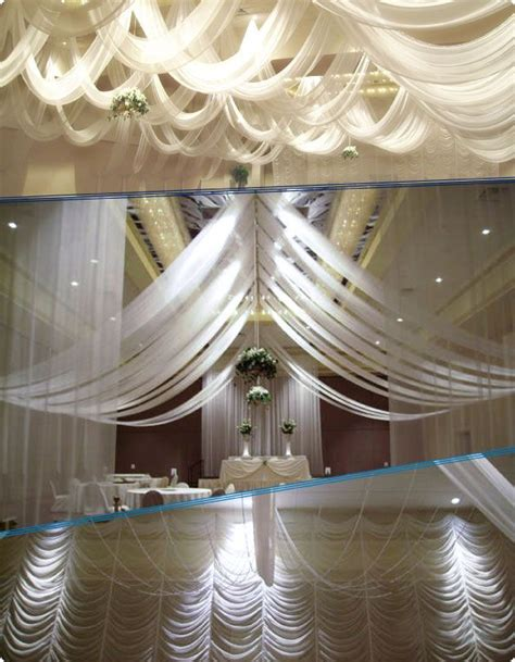 tulle draping w drapings florida ceiling drapings and wedding chiffon