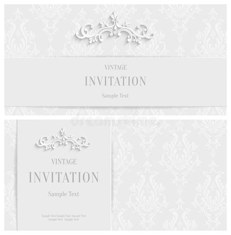 3d Invitation Card Template by Vector White Floral 3d Background Template For