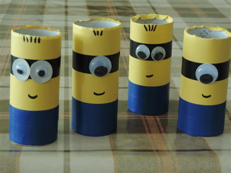 Minion Toilet Paper Roll Craft - toilet roll minions my kid craft