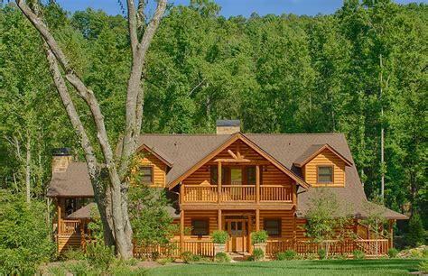 mountain laurel log home plan by satterwhite log homes