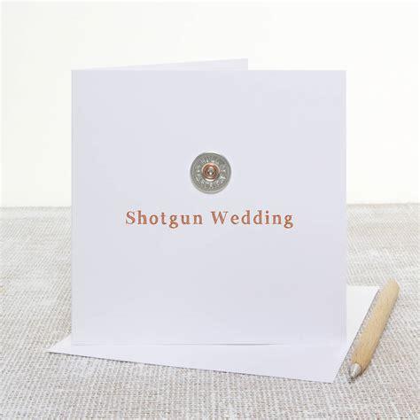 shotgun wedding shooting themed wedding card by slice of pie designs notonthehighstreet