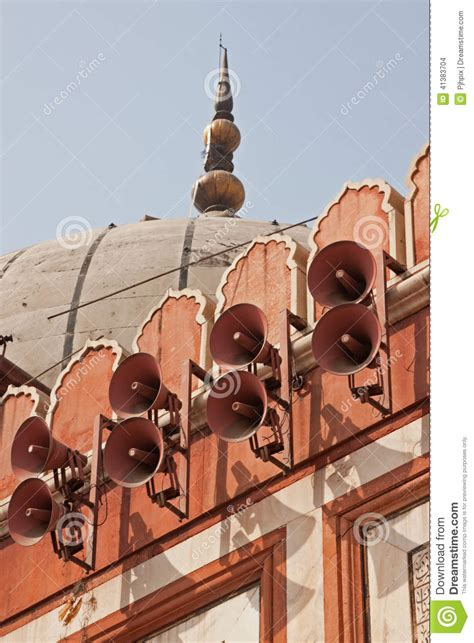 Speaker Masjid mosque speakers stock photo image 41383704