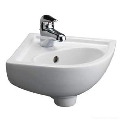 corner bathroom sink home depot barclay products petite corner wall hung bathroom sink in