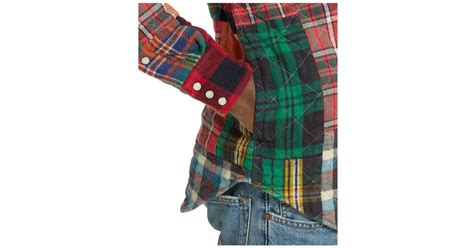 Ralph Patchwork - polo ralph patchwork flannel western shirt in