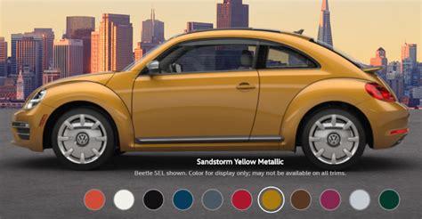 volkswagen beetle colors 2016 2017 volkswagen beetle color options