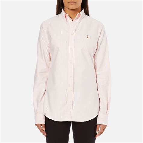 Polo Ralph Lauren Women's Harper Shirt   Pink/White   Free UK Delivery over £50