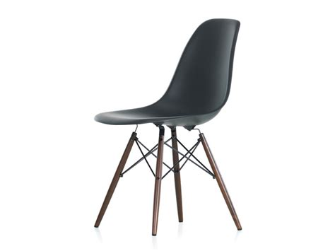 Plastic Dining Room Chairs buy the vitra dsw eames plastic side chair dark maple base