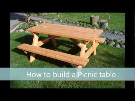 build  picnic table  step  step guide youtube