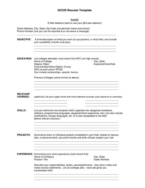 Exle Of Complete Resume by Resume Templates To Ats Friendly Resume Template