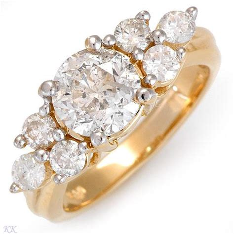 unique yellow gold engagement rings designs 2013