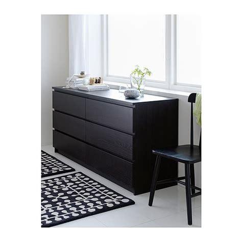 ikea malm kommode 4 schubladen malm chest of 6 drawers black brown 160x78 cm ikea