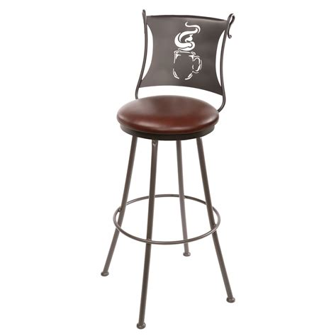 Rod Iron Bar Stools by Wrought Iron Coffee Cup Counter Stool 25 In Seat Height