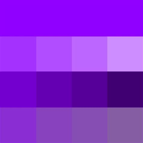 hues of purple violet web hue tints shades tones hue pure color