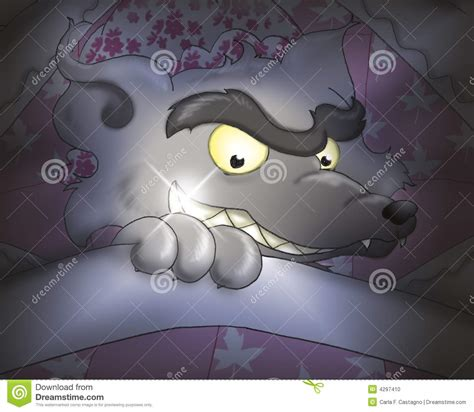 bad in bed bad wolf in bed 2 stock photo image 4297410