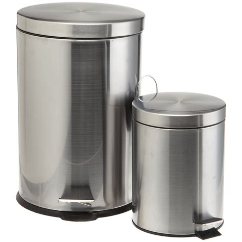 trash can stainless steel trash cans polished