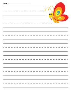 Butterfly Writing Paper Template sea turtle primary lined paper turtles paper and sea