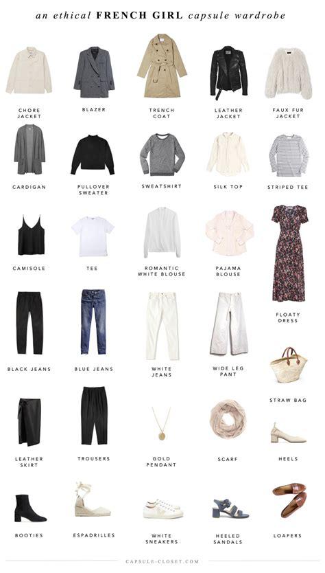 french women 10 item wardrobe an ethical french style capsule wardrobe capsule closet