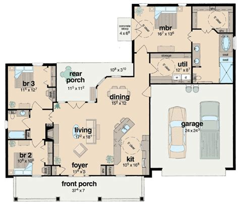 wheelchair accessible bathroom floor plans plan 8423jh handicapped accessible southern house plans