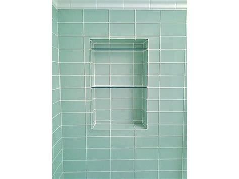 surf glass subway tile 3x6 for backsplashes showers more 174 best vintage green tiled bathroom images on pinterest