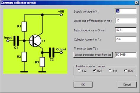 transistor lifier design tapas software