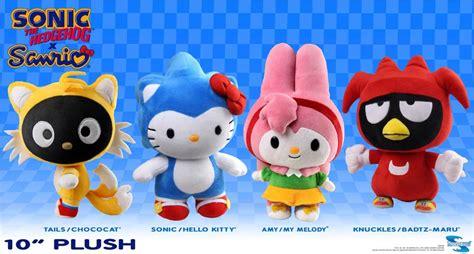 Figure Hello Crossover Sanrio Costume Set 4 sonic the hedgehog x sanrio 10 quot plush set of 4