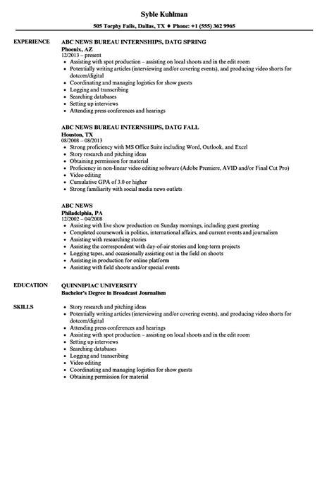 abc news resume sles velvet