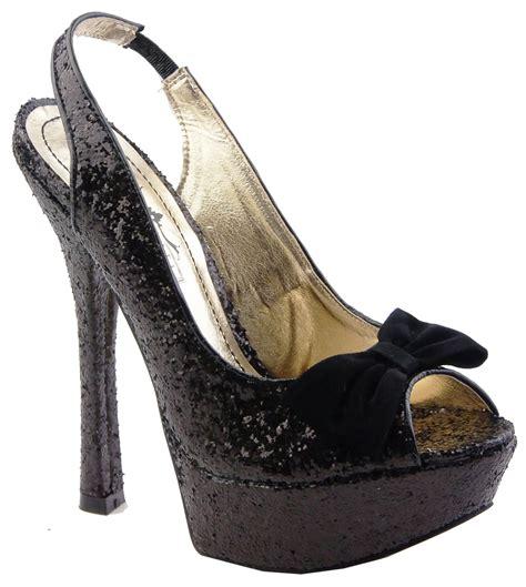 black glitter high heels new stunning black glitter high heels