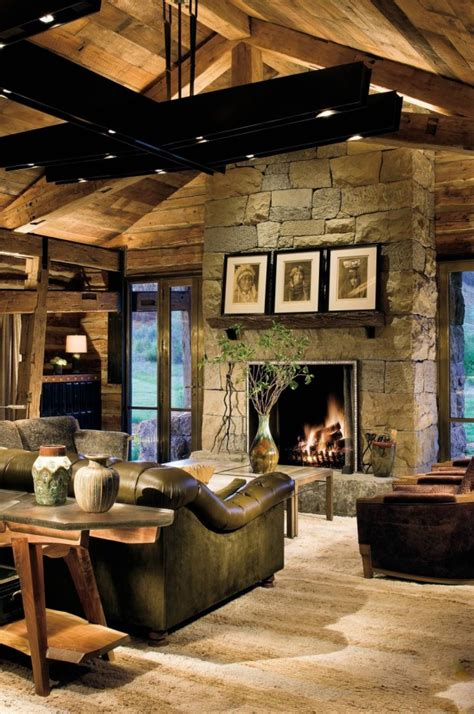 rustic living room 17 likable cozy rustic living room designs with fireplace