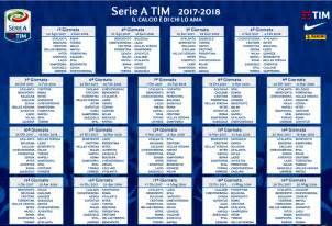 Calendario 2018 Serie A Calendario Serie A 2017 2018 Date Soste Turni