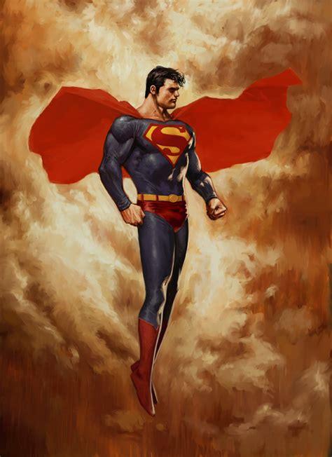 superman painting superman paradise lost by reau on deviantart