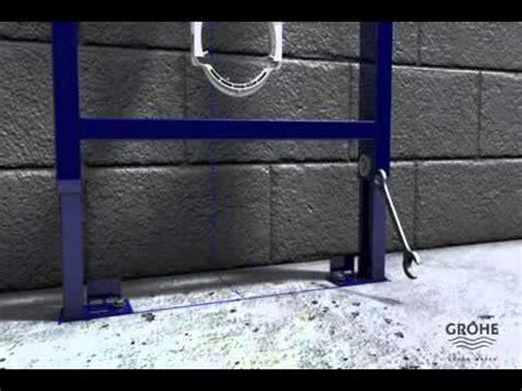 Inbouwtoilet Afmetingen Grohe by Grohe Rapid Sl Installatievideo Een Inbouwtoilet