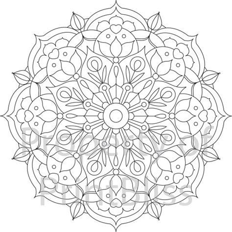 mandalas and more coloring book treasury 18 flower mandala printable coloring page