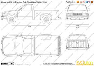 the blueprints vector drawing chevrolet s 10