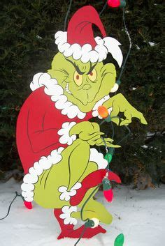grinch pulling down lights the grinch wood cut out crafts grinch the grinch and it