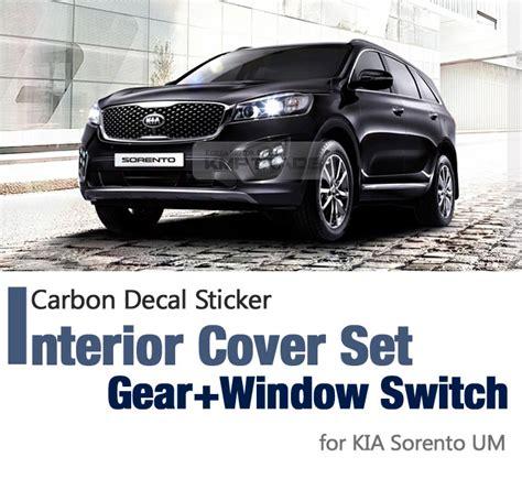 Sticker Striping Kia All New carbon interior gear window switch decal sticker for kia 2015 2017 sorento um ebay