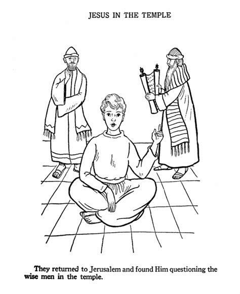 coloring pages boy jesus in the temple jesus in the temple coloring page ecole religion et