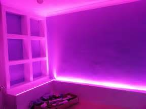 rgb led lights used to light up a bedroom