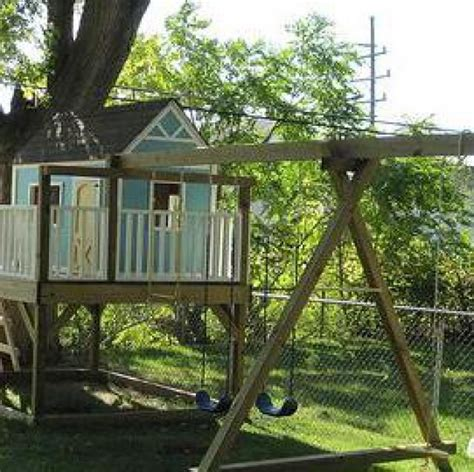 playhouse with swings 1000 ideas about swing set plans on pinterest swing