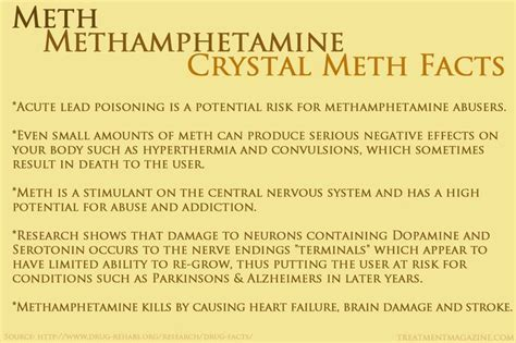 Meth Detox Symptoms by Meth Facts Effects And Addiction Autos Post