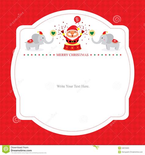 santa claus card template card template with santa claus stock vector