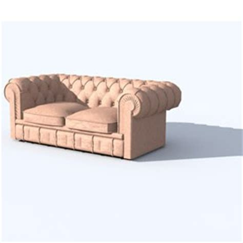 Free Chesterfield Sofa Chesterfield Sofa 2 Seats 3d Object Free Artlantis Objects