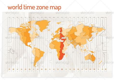 world river map vector time zone vector map by re start graphicriver